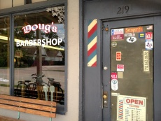 Fortunately, Doug's Barbershop is still in business!