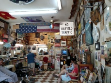 If you visit Doug's, you can see a collage of photos from the Rushmore filming on the wall among all the clippings.