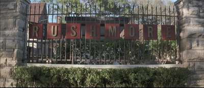 The Rushmore Academy sign...